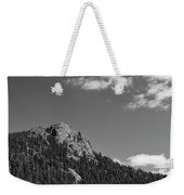 Colorado Buffalo Rock With Waxing Crescent Moon In Bw Weekender Tote Bag