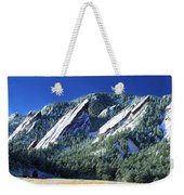 All Five Colorado Flatirons Weekender Tote Bag