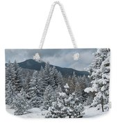 Colorado Foothills Winter Panorama Weekender Tote Bag