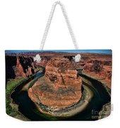 Colorado River Circles Horseshoe Bend Page Arizona Usa Weekender Tote Bag
