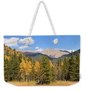 Colorado Rockies National Park Fall Foliage Panorama Weekender Tote Bag