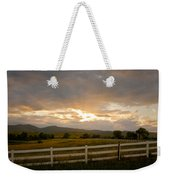 Colorado Rocky Mountain Country Sunset Weekender Tote Bag