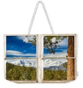 Colorado Rocky Mountain Rustic Window View Weekender Tote Bag