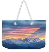 Colorado Rocky Mountain Sunset Waves Of Light Part 1 Weekender Tote Bag