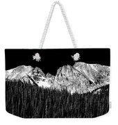 Colorado Rocky Mountains Indian Peaks Fine Art Bw Print Weekender Tote Bag