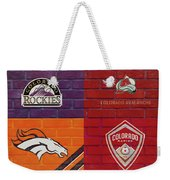 Colorado Sports Teams On Brick Weekender Tote Bag