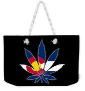 Colorado Weed Leaf Weekender Tote Bag