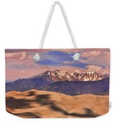 Colorado's Great Sand Dunes Shadow Of The Clouds Weekender Tote Bag