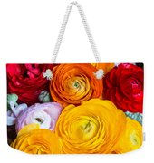 Colored Buttercup Flowers Weekender Tote Bag