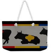 Colored Cows Weekender Tote Bag