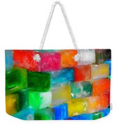 Colored Ice Bricks Weekender Tote Bag