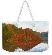 Colored Lake Pyramid Weekender Tote Bag