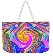 Colored Lines And Curls Weekender Tote Bag