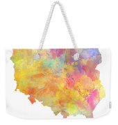 Colored Map Of Poland Weekender Tote Bag