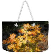 Colored Maple Leaves Weekender Tote Bag