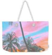 Colored Palms Weekender Tote Bag