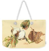 Colored Pencil Cotton Plant Weekender Tote Bag