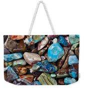 Colored Polished Stones Weekender Tote Bag