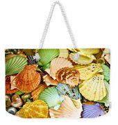 Colored Shells Weekender Tote Bag