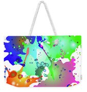 Colored Splashes On A Blue Background Weekender Tote Bag