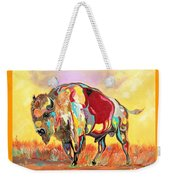 coloredd Buffalo Weekender Tote Bag