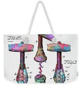 Colorful 1883 Wine Corckscrew Patent Weekender Tote Bag by Nikki Marie Smith