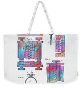 Colorful 1889 First Computer Patent Weekender Tote Bag by Nikki Marie Smith