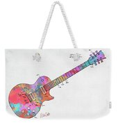 Colorful 1955 Mccarty Gibson Les Paul Guitar Patent Artwork Mini Weekender Tote Bag by Nikki Marie Smith