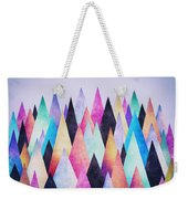 Colorful Abstract Geometric Triangle Peak Woods  Weekender Tote Bag