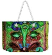Colorful Abstract Painting Swirls And Dabs And Dots With Hidden Meaning And Secret Stories Of Birds  Weekender Tote Bag