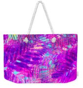 Colorful Abstract Palm Leaves 3 Weekender Tote Bag