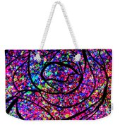 Colorful Abstract Rose  Weekender Tote Bag
