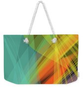 Colorful Abstract Vector Background Banner, Transparent Wave Lin Weekender Tote Bag