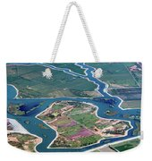 Colorful Aerial Of Commercial Farmland In Stockton - Medford Island - San Joaquin County, California Weekender Tote Bag