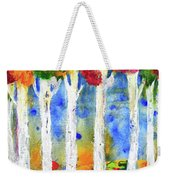 Colorful Aspen Trees View Weekender Tote Bag