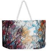 Colorful Autumn Weekender Tote Bag