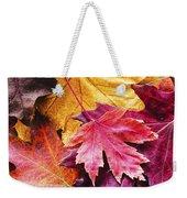 Colorful Autumn Leaves Closeup Weekender Tote Bag
