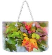 Colorful Autumn Leaves - Digital Watercolor Weekender Tote Bag