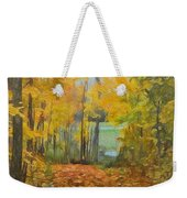 Colorful Autumn Trail Weekender Tote Bag