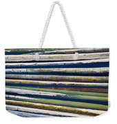 Colorful Bamboo Weekender Tote Bag by Wim Lanclus