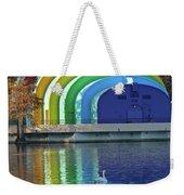 Colorful Bandshell And Swan Weekender Tote Bag