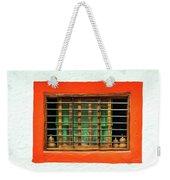 Colorful Bared Window Weekender Tote Bag