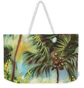 Colorful Blue Hawaiian Plantation House With Red Tin Roof And Sw Weekender Tote Bag