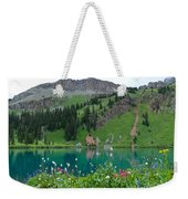 Colorful Blue Lakes Landscape Weekender Tote Bag