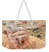 Colorful Boulder Above Wash 3 In Valley Of Fire Weekender Tote Bag