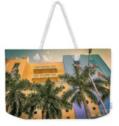 Colorful Building And Palm Trees Weekender Tote Bag