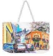 Colorful Buildings And Old Cars In Havana - V3 Weekender Tote Bag