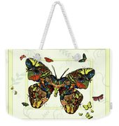 Colorful Butterfly Collage Weekender Tote Bag