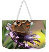 Colorful Butterfly On Daisy Weekender Tote Bag