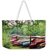 Colorful Canoes At Hungry Mother State Park Weekender Tote Bag